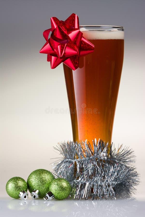 Kerstmisbier stock foto
