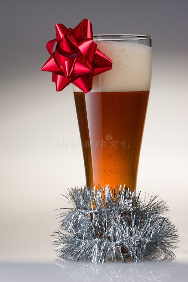 Kerstmisbier stock foto's