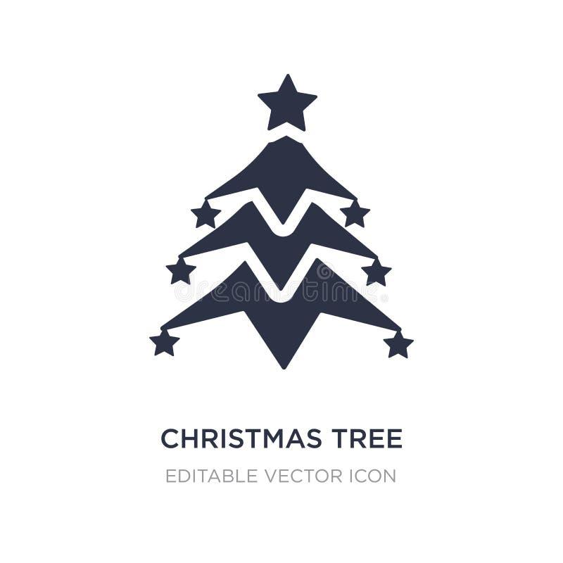 Kerstmisboom met sterpictogram op witte achtergrond Eenvoudige elementenillustratie van Vormenconcept vector illustratie