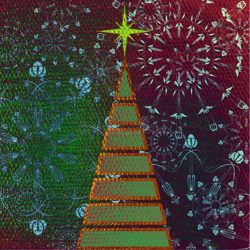 Kerstmisboom van de kunst stock illustratie