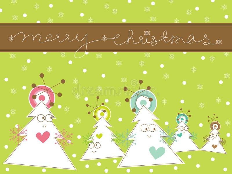 Kerstmisboom van het beeldverhaal stock illustratie