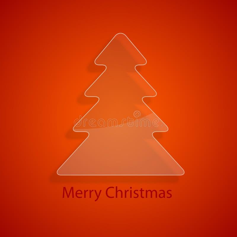 Kerstmisboom van het glas vector illustratie