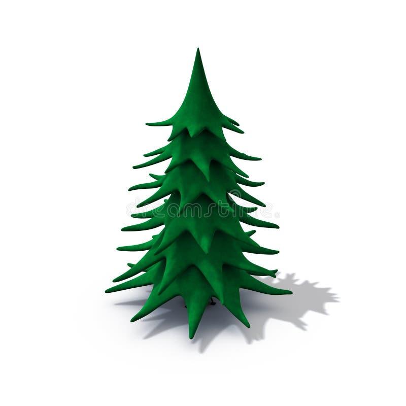 Kerstmisboom van Undecorated royalty-vrije illustratie