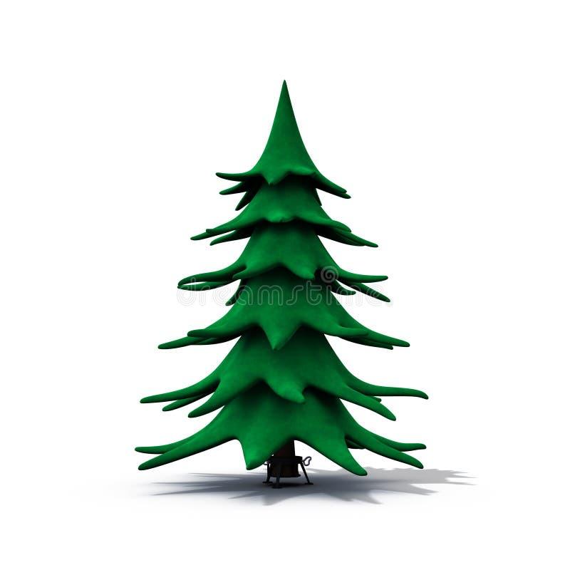 Kerstmisboom van Undecorated vector illustratie