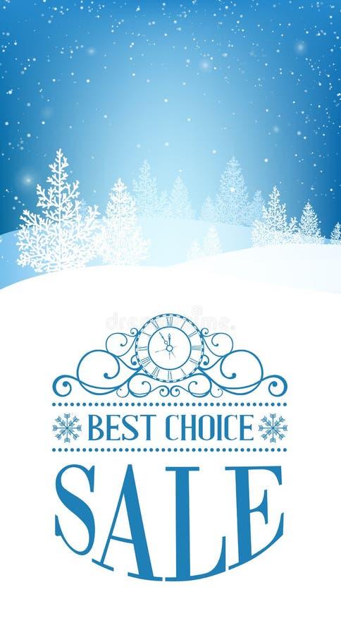 Kerstmisbos stock illustratie
