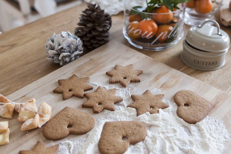 Kerstmiscakes stock foto