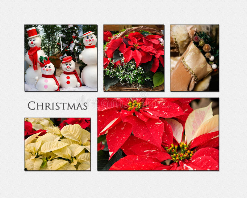 Kerstmiscollage royalty-vrije stock foto's