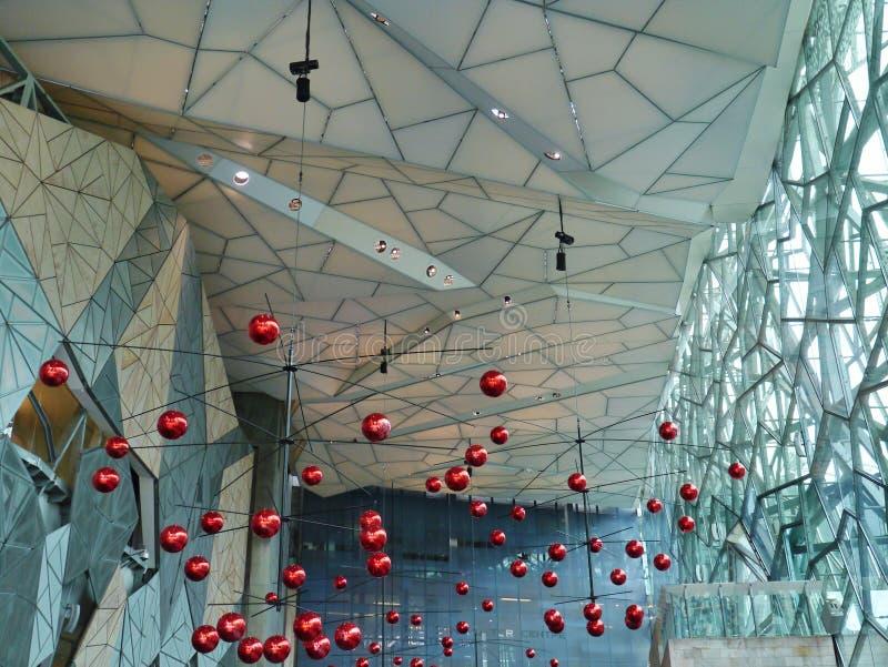 Kerstmisdecoratie in de zomer in Melbourne royalty-vrije stock afbeelding
