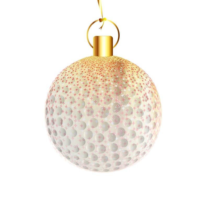 Kerstmisdecoratie Golfball vector illustratie