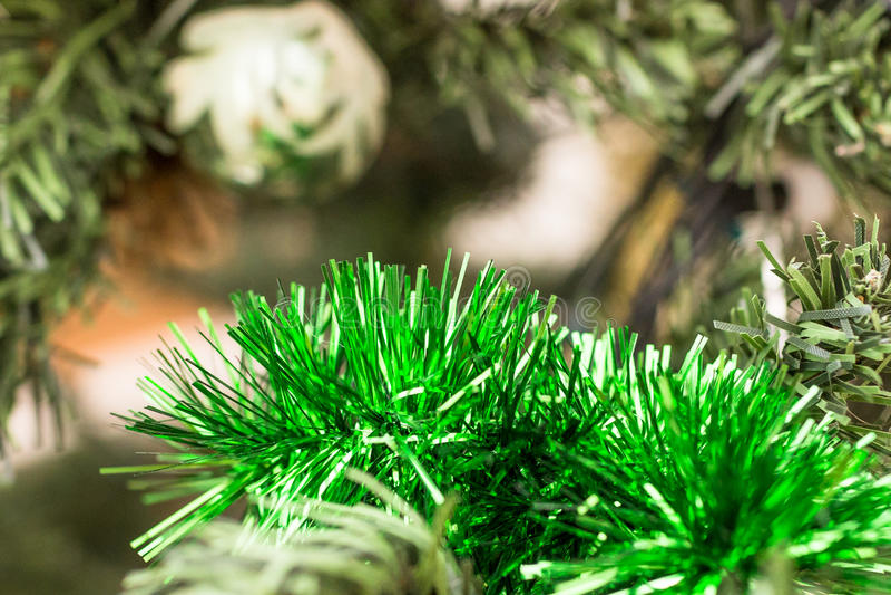 Kerstmisdecoratie, groen lovertje royalty-vrije stock foto's