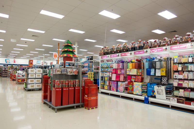 Kerstmisdecoratie, Groot W superstore royalty-vrije stock afbeelding