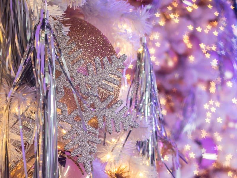 Kerstmisdecoratie met gebruikt van stervorm bokeh Zulk een g royalty-vrije stock foto