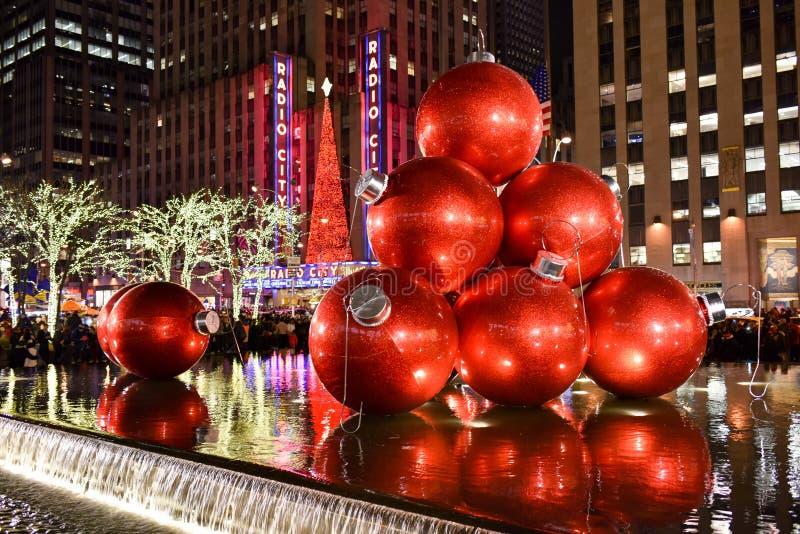 Kerstmisdecoratie, New York stock afbeelding