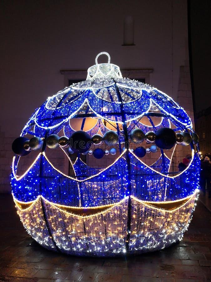 Kerstmisdecoratie in Polen royalty-vrije stock afbeelding