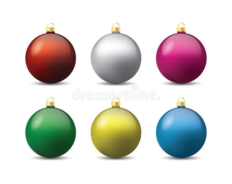 Kerstmisdecoratie - snuisterijen royalty-vrije illustratie