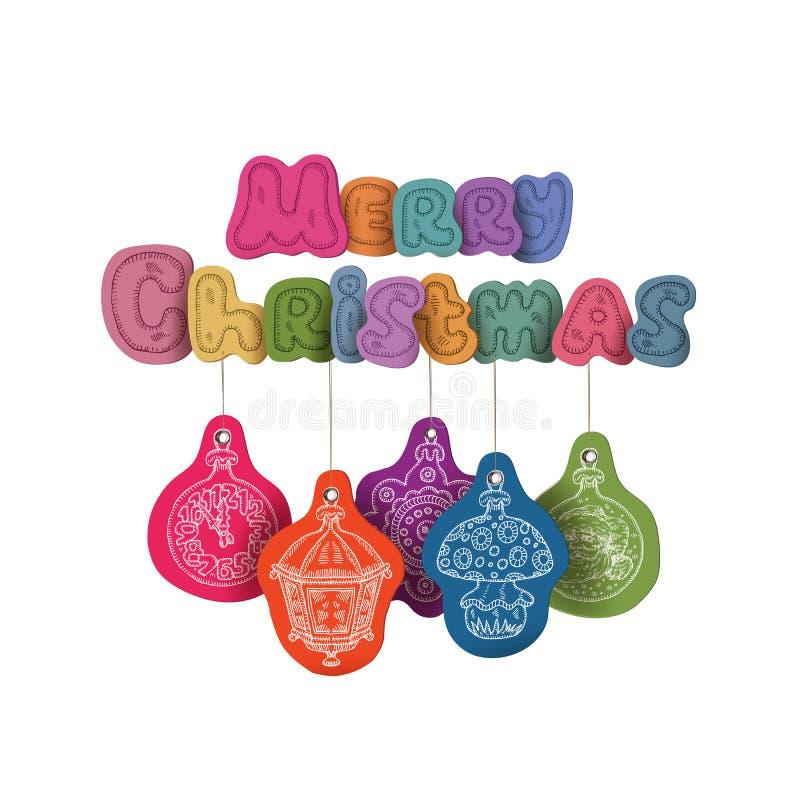 Kerstmisdecoratie. Vectorillustratie vector illustratie