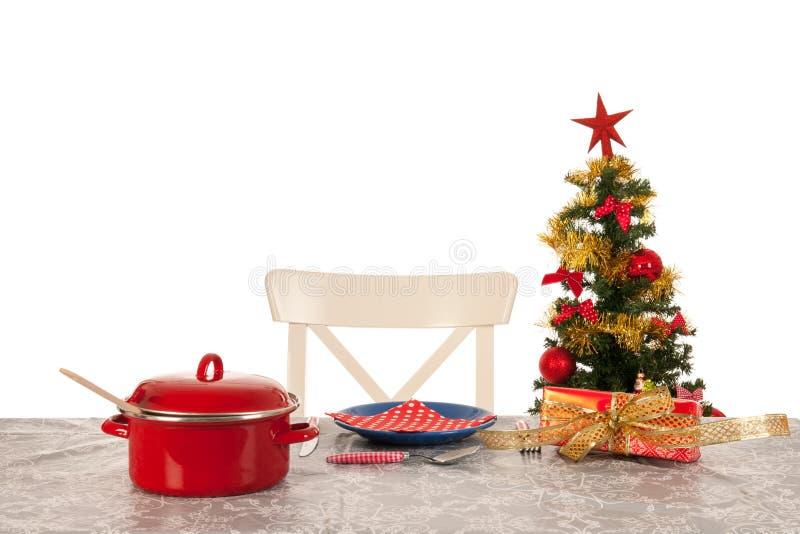 Kerstmisdiner voor  stock fotografie