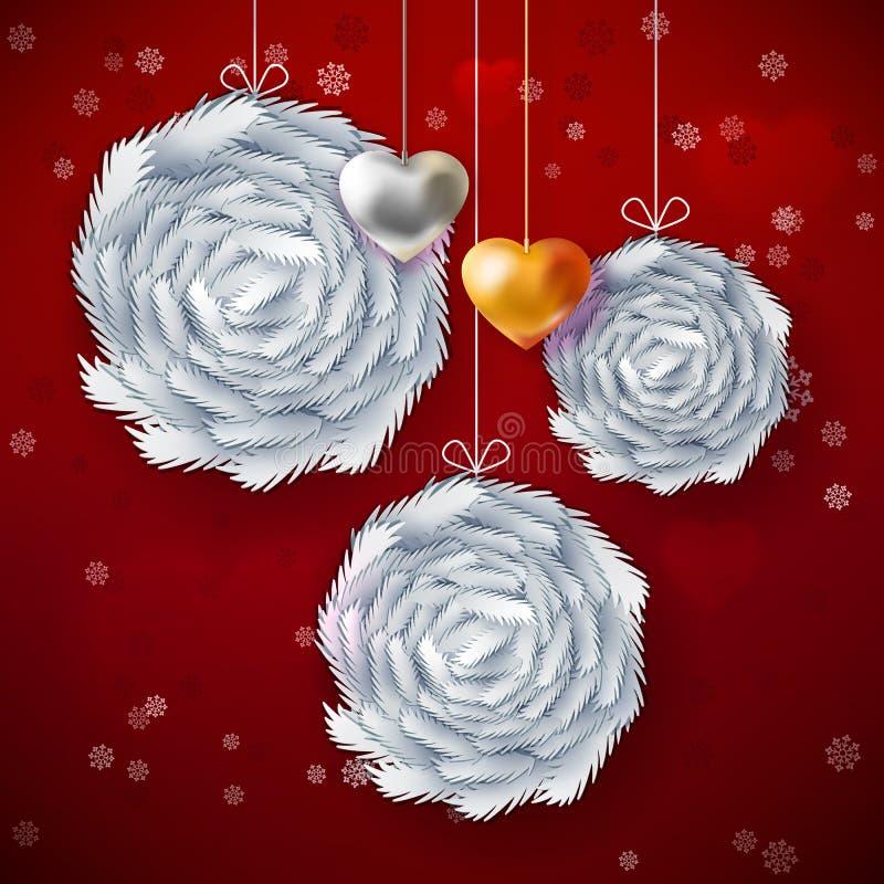 Kerstmisdocument kunstkaart vector illustratie