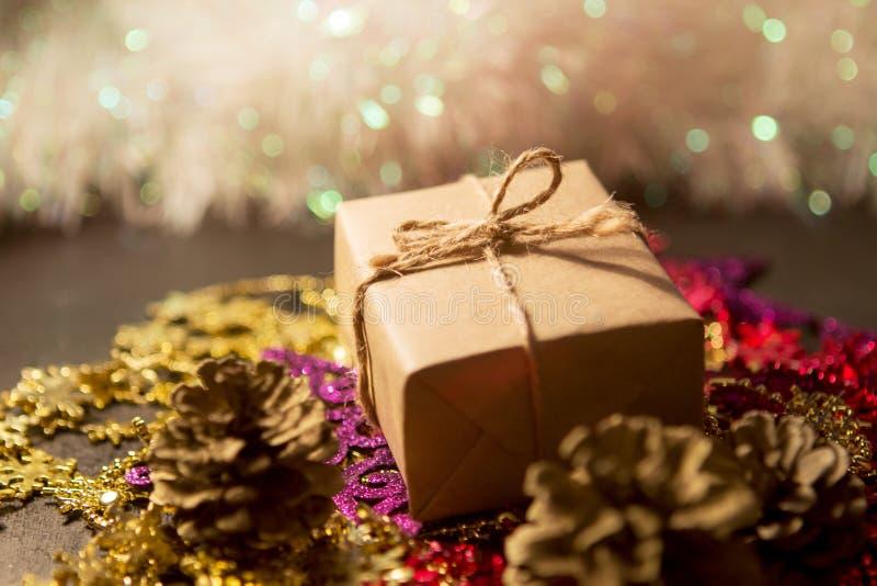 Kerstmisdoos royalty-vrije stock afbeelding