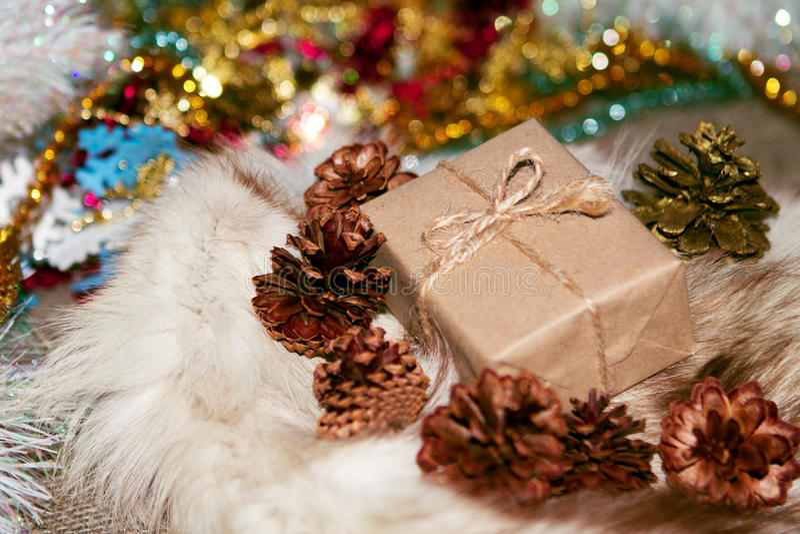 Kerstmisdoos royalty-vrije stock foto