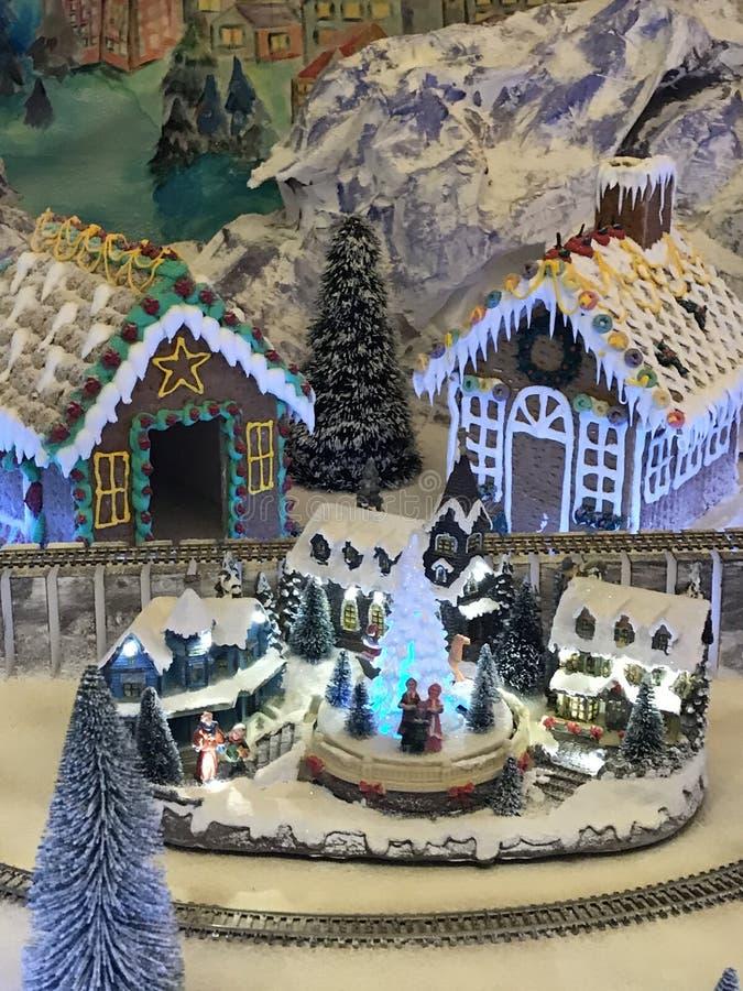 Kerstmisdorp stock fotografie