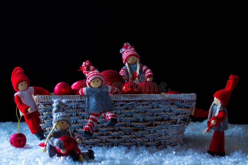 Kerstmiself royalty-vrije stock afbeeldingen