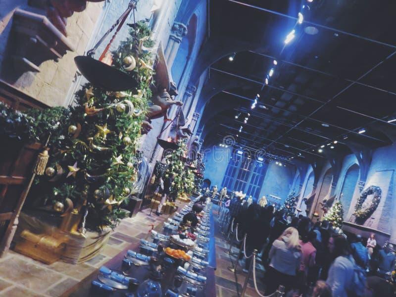 Kerstmisfeest in Hogwarts royalty-vrije stock afbeeldingen