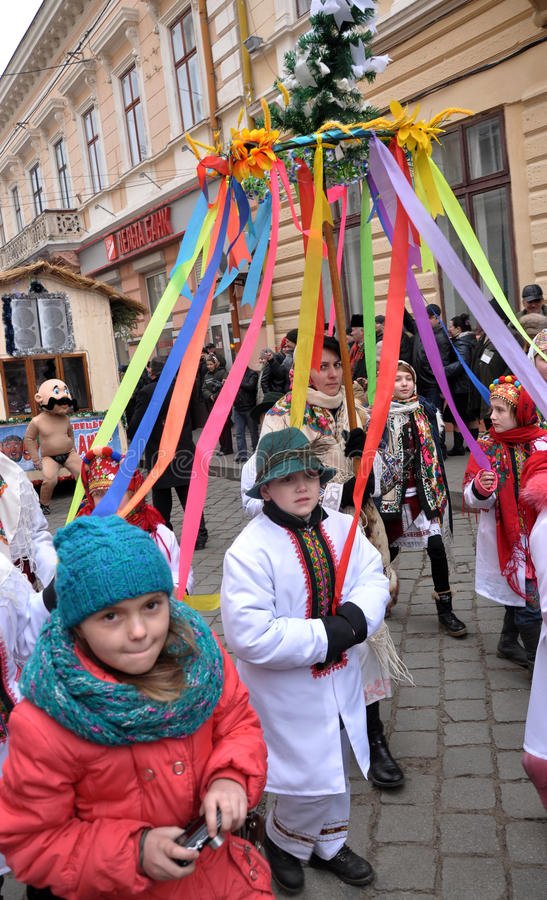 Kerstmisfestival Malanka Fest_41 royalty-vrije stock fotografie