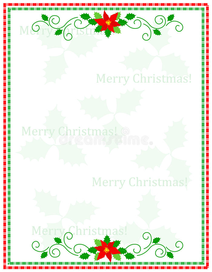 Kerstmisframe van strepen royalty-vrije illustratie