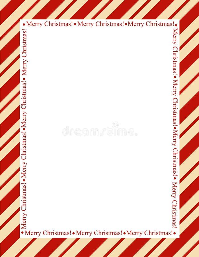 Kerstmisframe van strepen stock illustratie