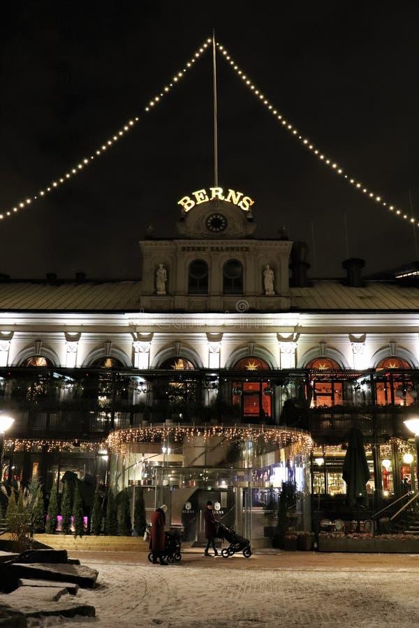Kerstmisgeest bij de salons van Bern in Stockholm royalty-vrije stock afbeeldingen