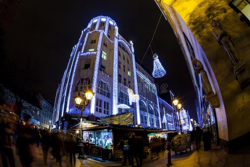 Kerstmisgeest in Boedapest royalty-vrije stock foto's