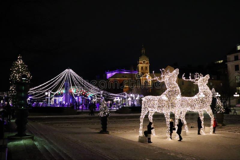 Kerstmisgeest in Kungsträdgården in Stockholm stock afbeelding