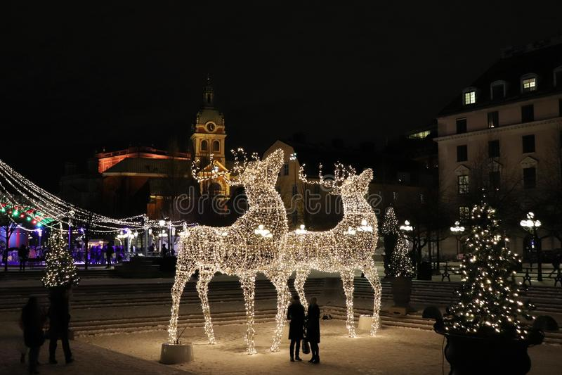 Kerstmisgeest in Kungsträdgården in Stockholm stock fotografie