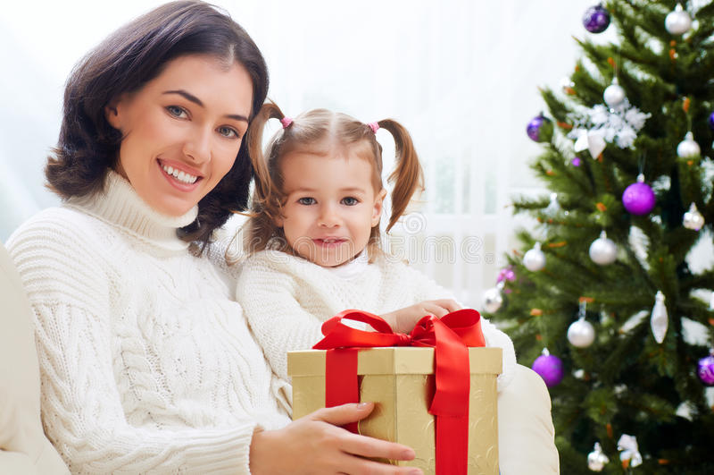 Kerstmisgift stock foto's