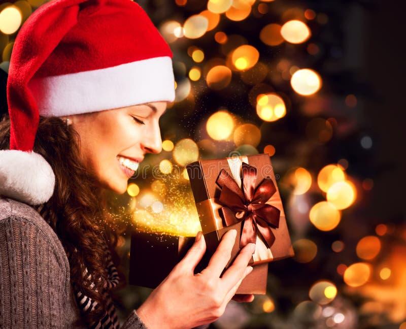 Kerstmisgift stock foto