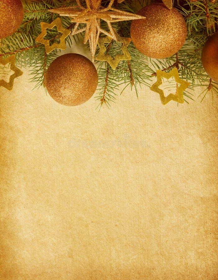 Kerstmisgrens. royalty-vrije stock afbeelding