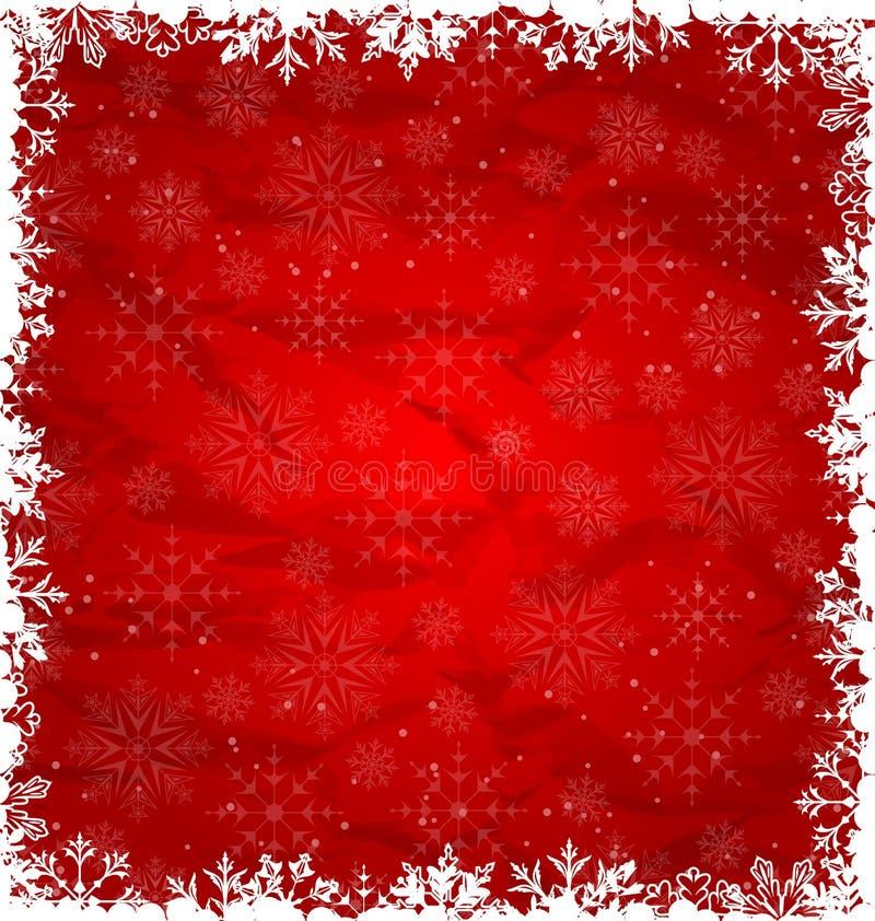 Kerstmisgrens in Sneeuwvlokken wordt gemaakt die vector illustratie