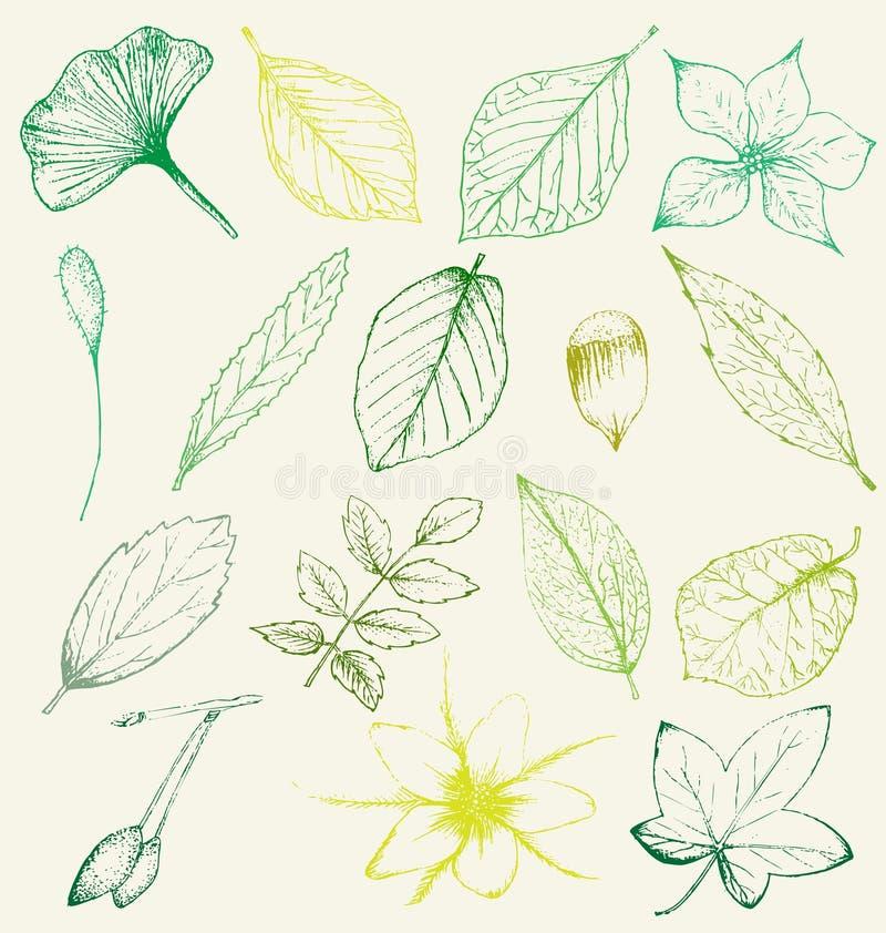 Kerstmishand getrokken pictogrammen vector illustratie