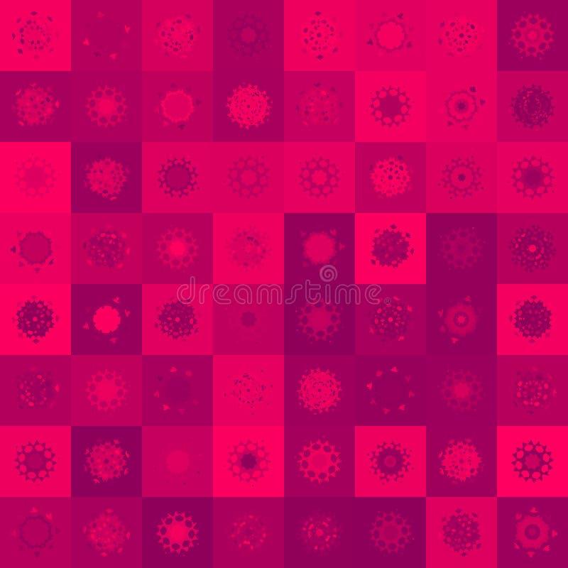 Kerstmisherten, Naadloze Illustratie. EPS 8 Stock Fotografie