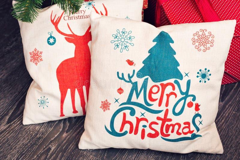 Kerstmishoofdkussen voor decoratie royalty-vrije stock afbeelding