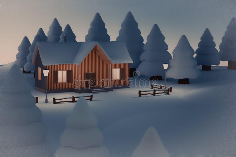 Kerstmishuis royalty-vrije illustratie