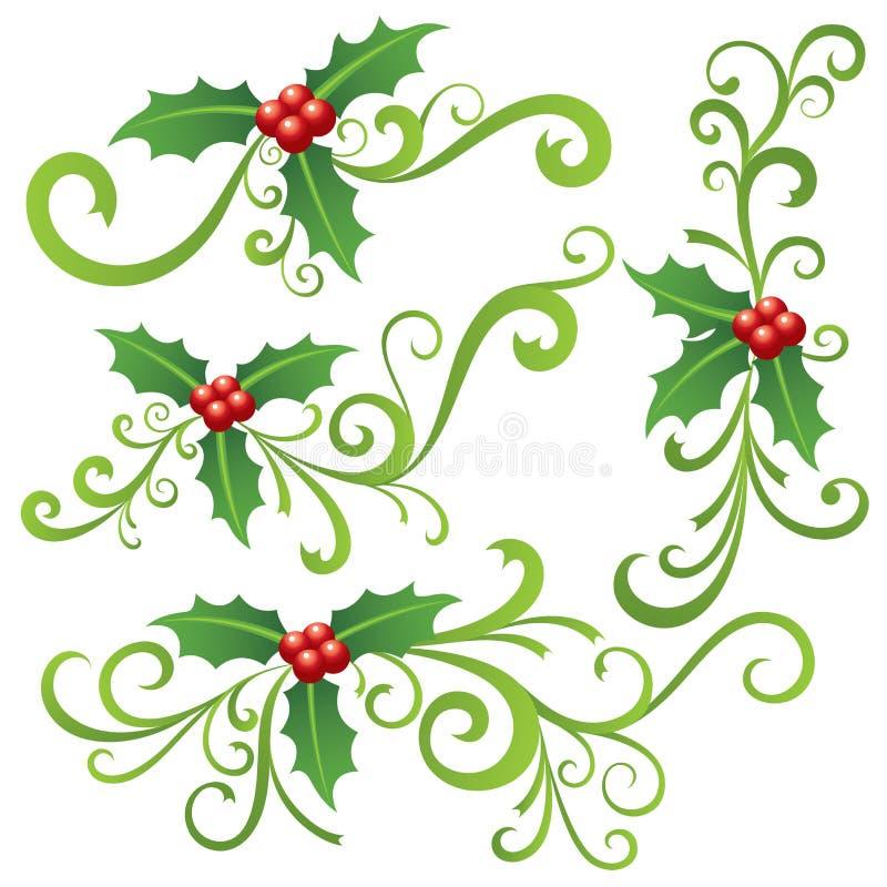 Kerstmishulst en Rollen stock illustratie