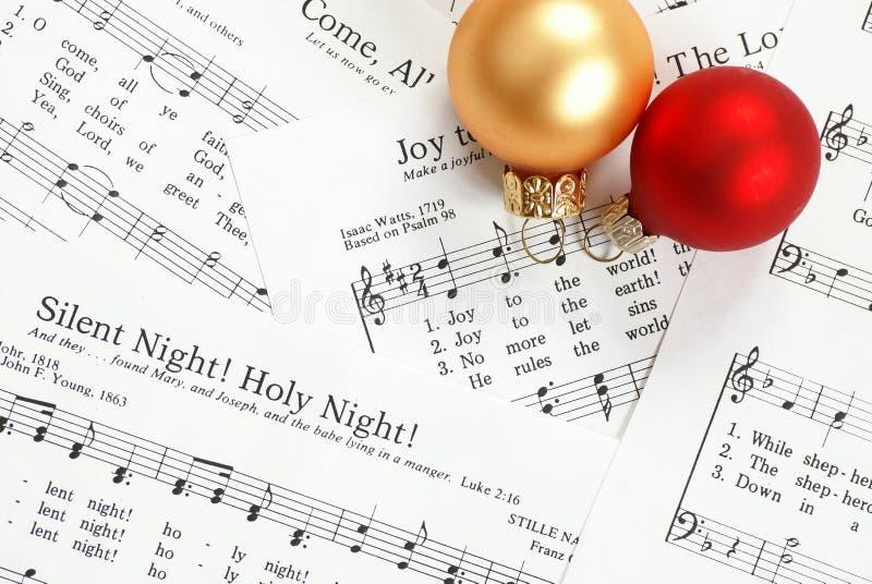Kerstmishymne stock afbeelding