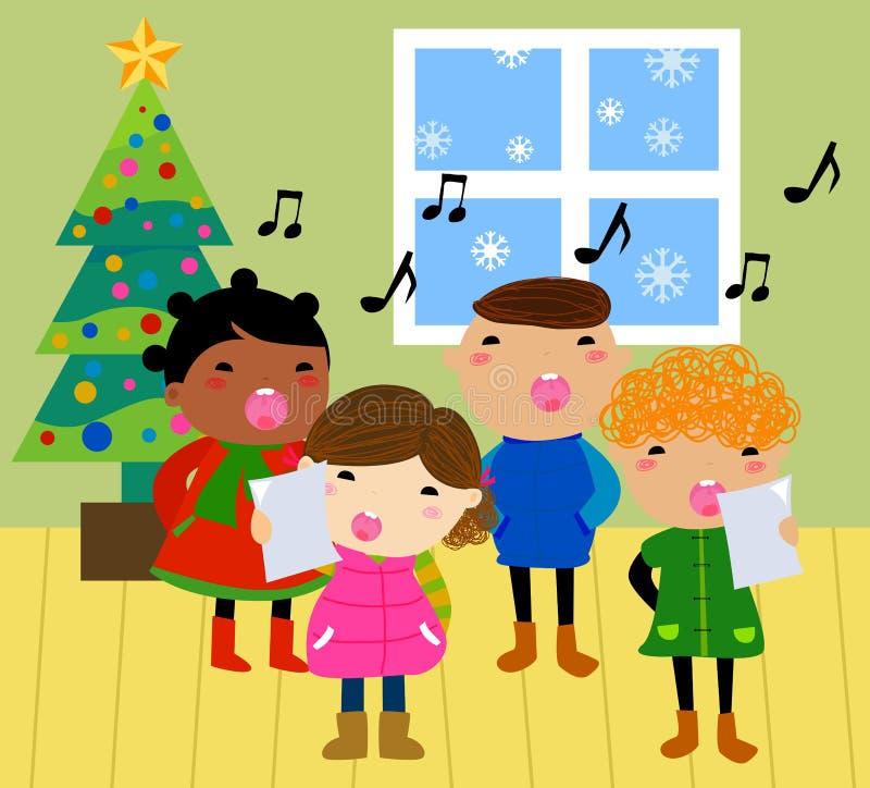 Kerstmishymnes stock illustratie