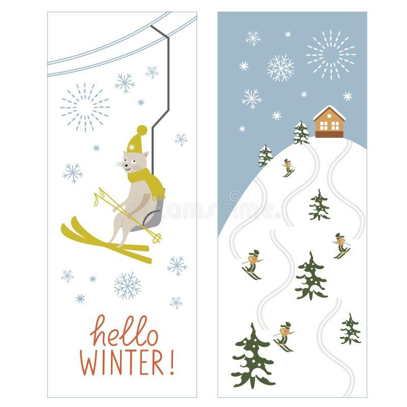 Kerstmisillustratie, Kerstkaart vector illustratie