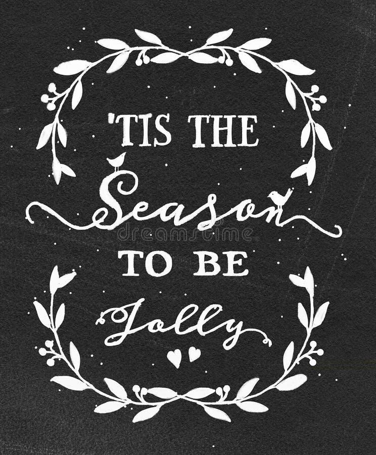 Kerstmisillustratie op bord stock illustratie