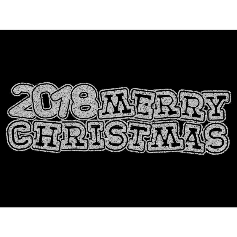 Kerstmisinschrijving stock illustratie