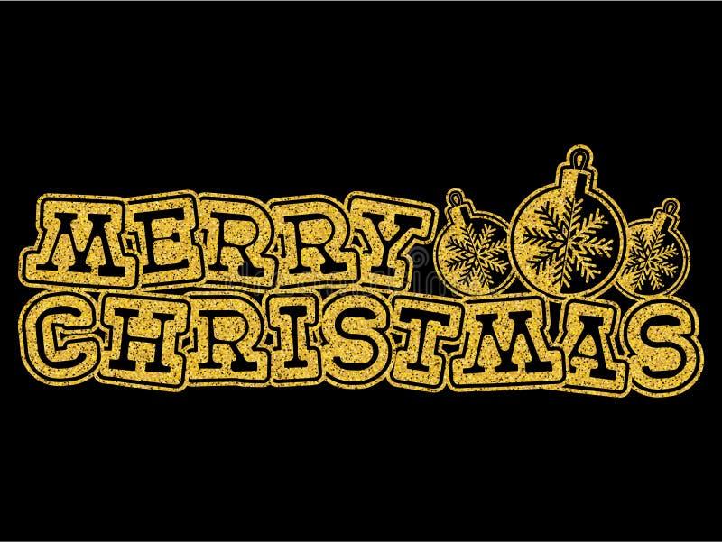 Kerstmisinschrijving vector illustratie