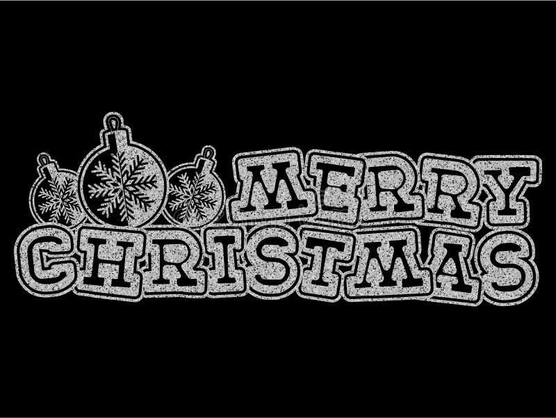 Kerstmisinschrijving royalty-vrije illustratie